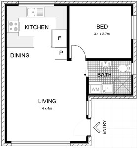 Licensed granny flat builders castle hill for Floor plan granny flat