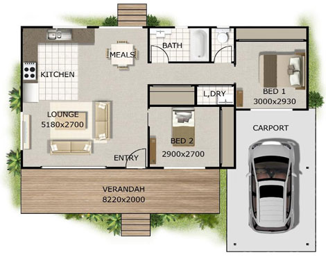 Floor Plan of a Granny Flat